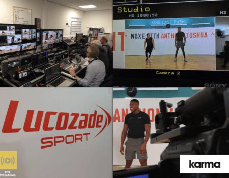 Facebook & YouTube Live Streaming – Lucozade Sport – Anthony Joshua